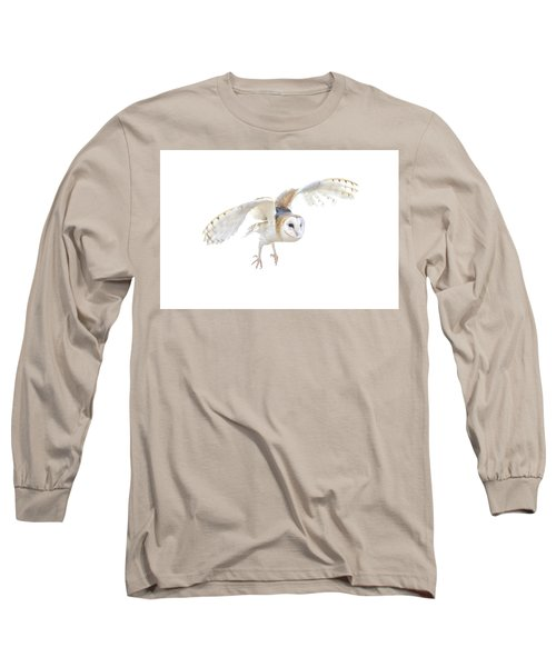 Barn Owl In Flight Long Sleeve T-Shirt
