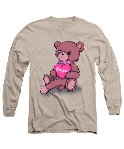 Be Mine Bear Long Sleeve T-Shirt