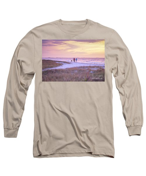 Sunrise Stroll On The Beach Long Sleeve T-Shirt