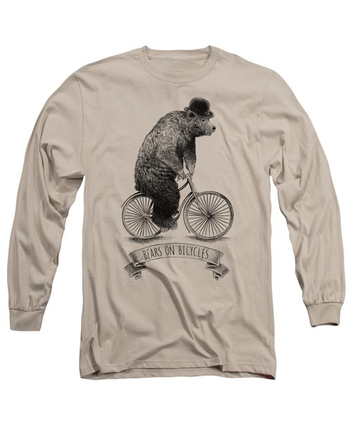 Bears On Bicycles Long Sleeve T-Shirt