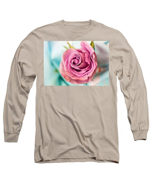 Beautiful Vintage Rose Long Sleeve T-Shirt