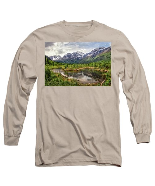 Beaver Pond, Eagle River Ak Long Sleeve T-Shirt
