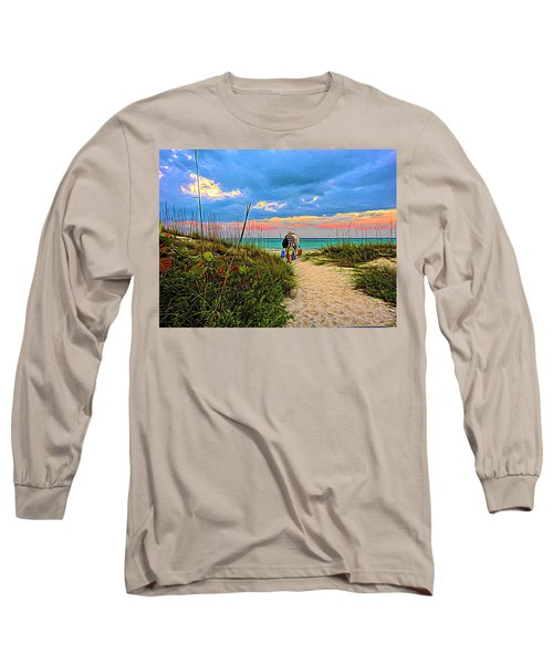 Beginning Of A Fishing Story Long Sleeve T-Shirt