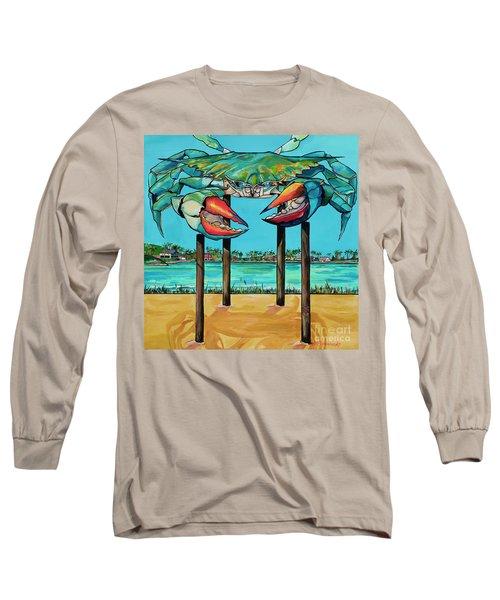 Big Blue Crab Rockport Long Sleeve T-Shirt
