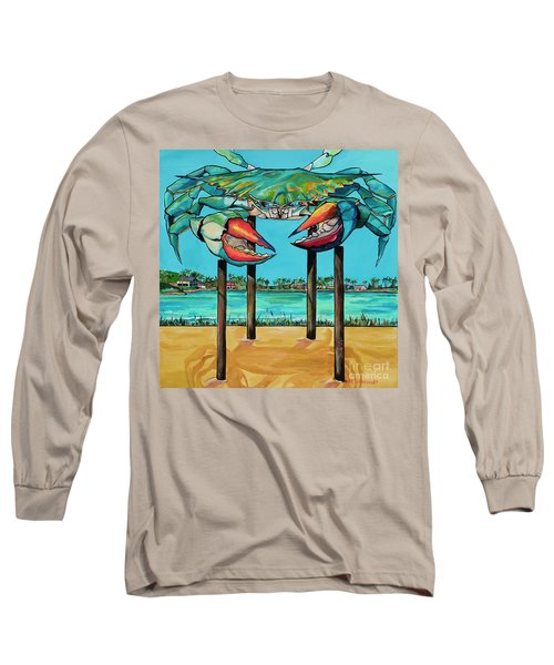 Big Blue Crab Rockport Long Sleeve T-Shirt