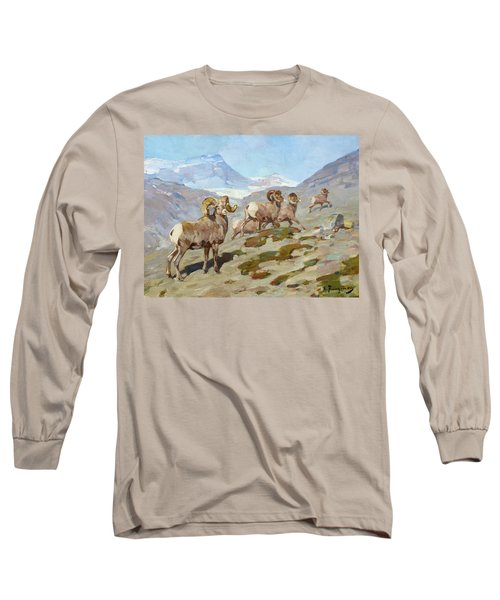 Bighorn Sheep, Nigel Pass, Alberta, 1919 Long Sleeve T-Shirt