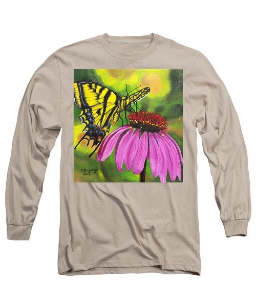 Black-sampson Echinacea Long Sleeve T-Shirt