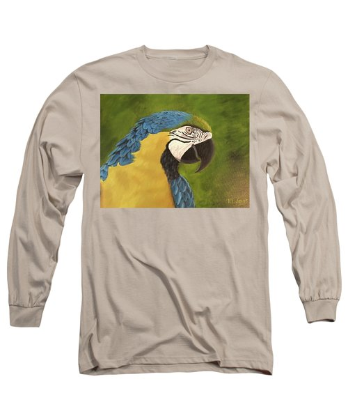 Blue And Gold Mccaw Long Sleeve T-Shirt