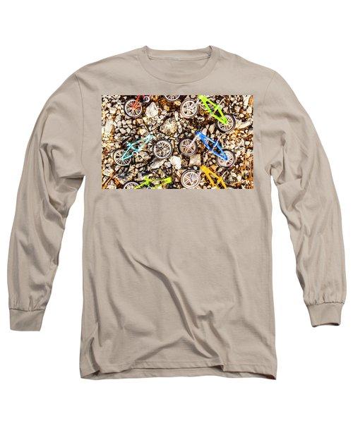 Bmx Pebble Race Long Sleeve T-Shirt