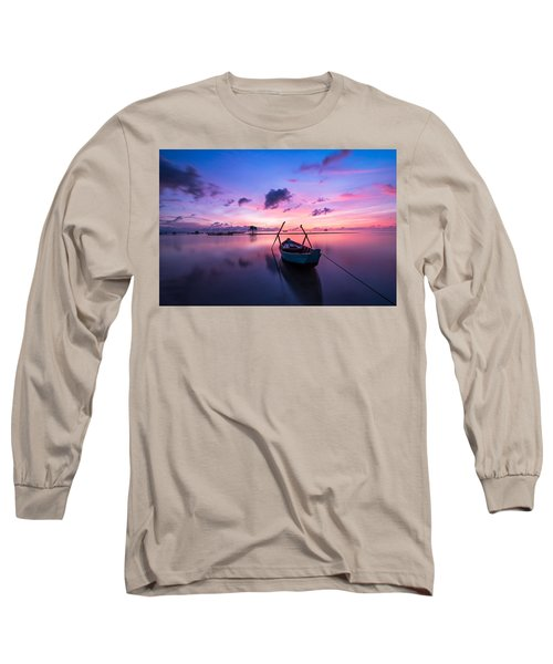 Boat Under The Sunset Long Sleeve T-Shirt