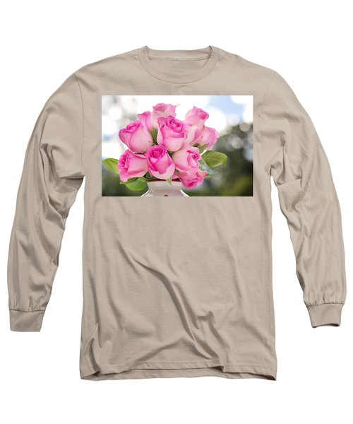 Bouquet Of Pink Roses Long Sleeve T-Shirt