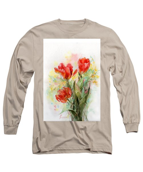 Bouquet Of Red Tulips Long Sleeve T-Shirt