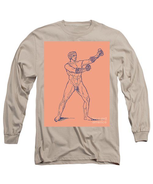 Boxer, Illustration For Olympia By Adolf Boetticher, 1886 Long Sleeve T-Shirt