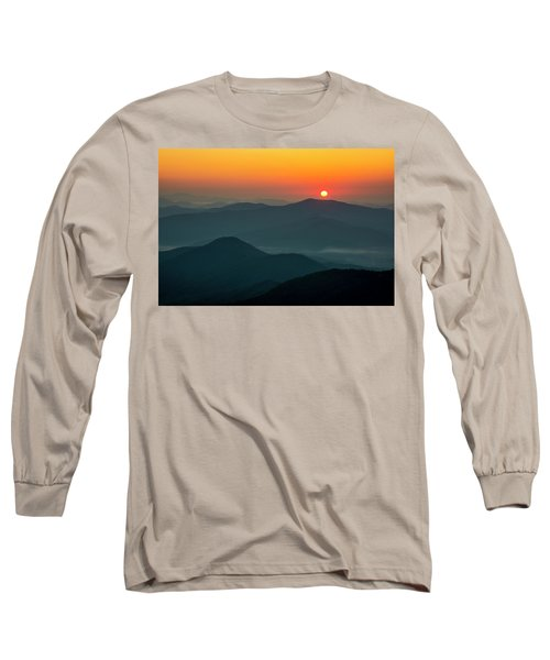 Long Sleeve T-Shirt featuring the photograph Brasstown Bald Sunrise by Andy Crawford