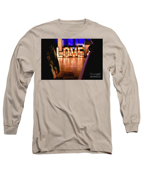 Bright Wooden Letters With Word Love In A Party Long Sleeve T-Shirt