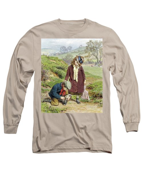 Brother Tying His Sisters Shoe Long Sleeve T-Shirt
