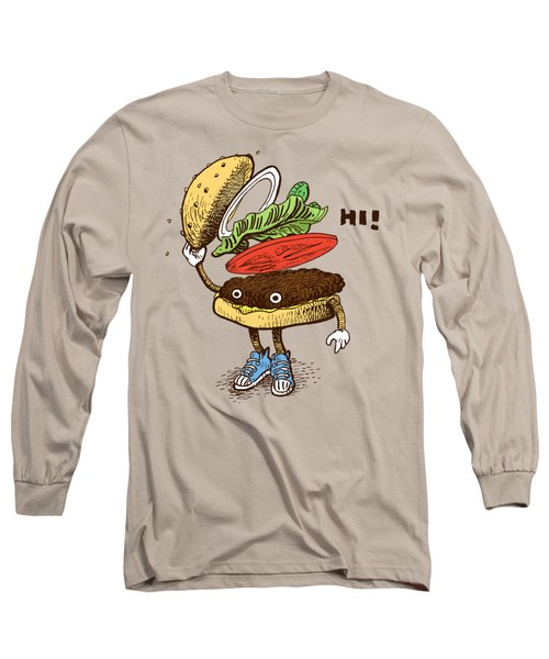 Burger Greeting Long Sleeve T-Shirt
