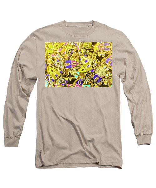 Busy Space Long Sleeve T-Shirt