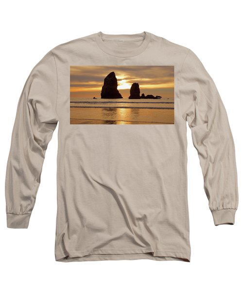 Cannon Beach November Sunset Long Sleeve T-Shirt