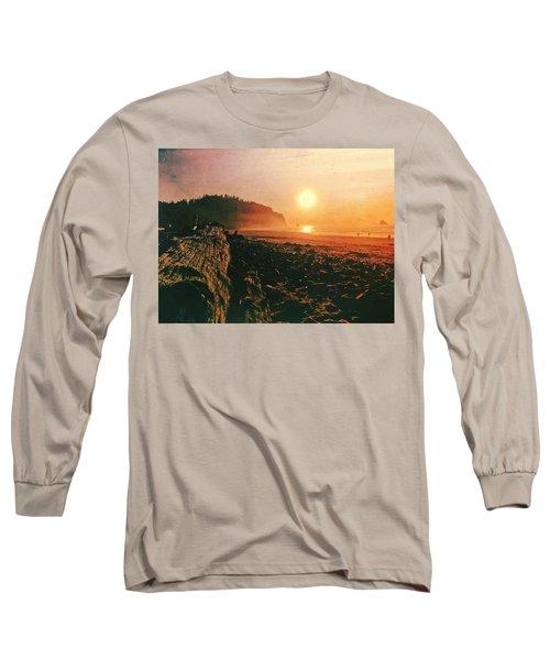 Cape Meares Beach Long Sleeve T-Shirt