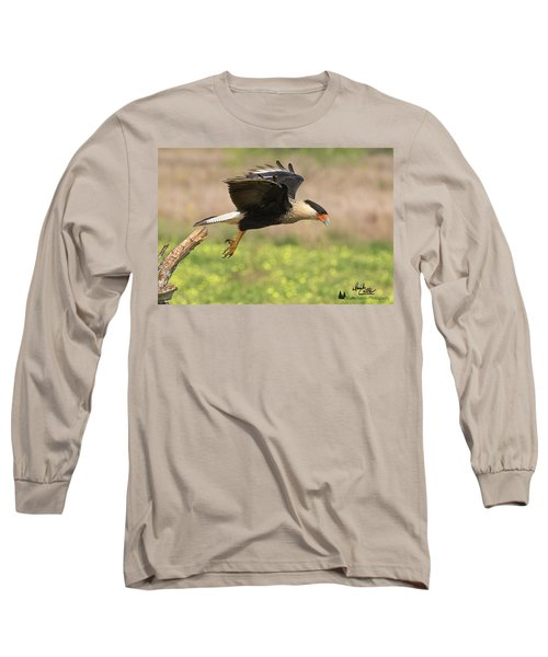 Caracara Taking Off Long Sleeve T-Shirt