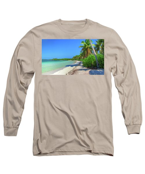 Caribbean Palm Beach Long Sleeve T-Shirt