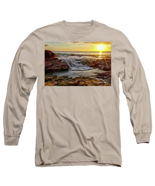 Cascading Sunset At Crystal Cove Long Sleeve T-Shirt