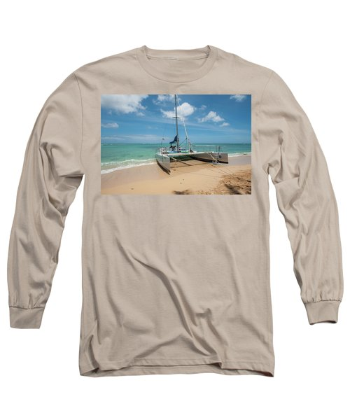 Catamaran On Waikiki Long Sleeve T-Shirt