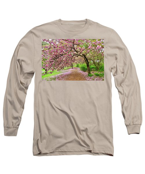 Central Park Cherry Blossoms Long Sleeve T-Shirt