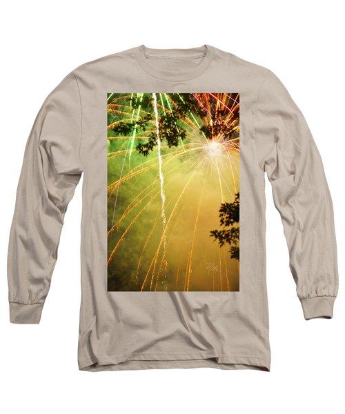 Chetola Yellow Fireworks Long Sleeve T-Shirt