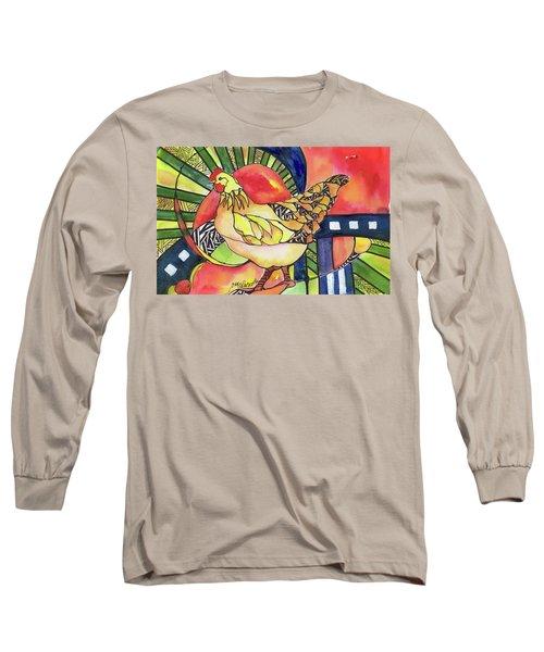 Chicken Red Long Sleeve T-Shirt