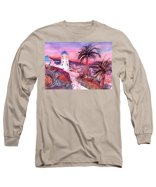 Church On Ios Island Greece Long Sleeve T-Shirt