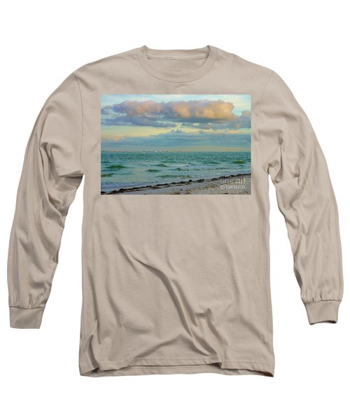 Clouds Over Sanibel Beach Long Sleeve T-Shirt