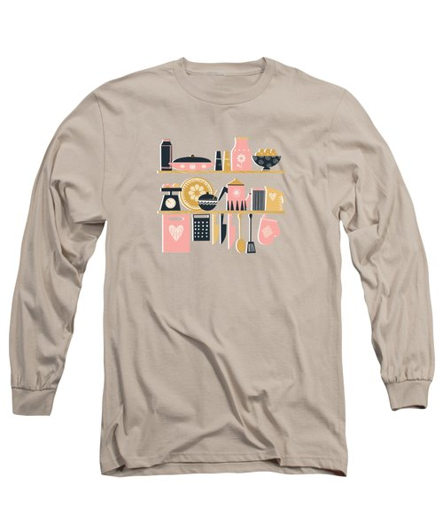 Colorful Cooking In A Mid Century Scandinavian Kitchen Long Sleeve T-Shirt