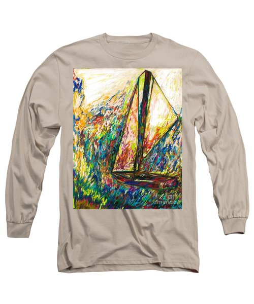 Colorful Day On The Water Long Sleeve T-Shirt