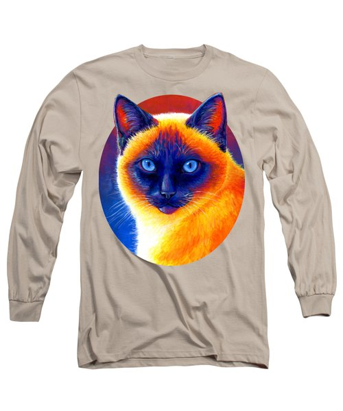 Jewel Of The Orient - Colorful Siamese Cat Long Sleeve T-Shirt
