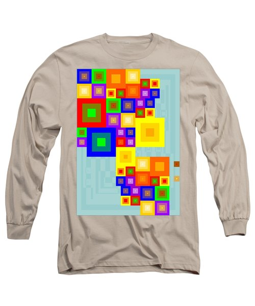 Colourful Cubism  Long Sleeve T-Shirt