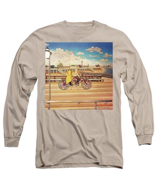 Coney Island Boardwalk Pillow Mural #5 Long Sleeve T-Shirt