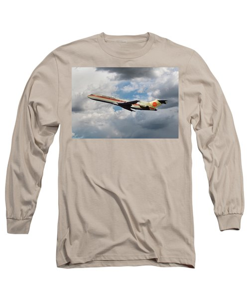 Continental Airlines Boeing 727 Takeoff At Lax Long Sleeve T-Shirt