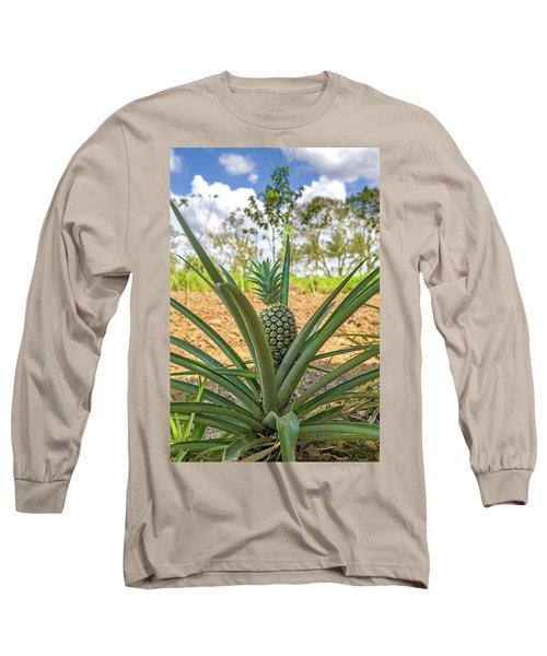 Costa Rica Naturally Growing Pineapple Long Sleeve T-Shirt