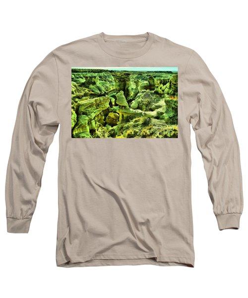 Crazy Bisti Badlands Rock Formation Long Sleeve T-Shirt