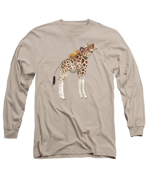 Daydreaming Of Giraffes Png Long Sleeve T-Shirt