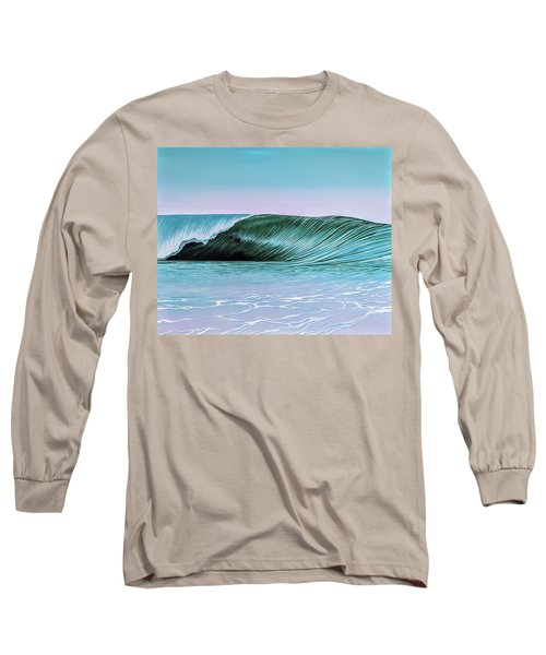 Long Sleeve T-Shirt featuring the painting Deep Blue Barrel by William Love