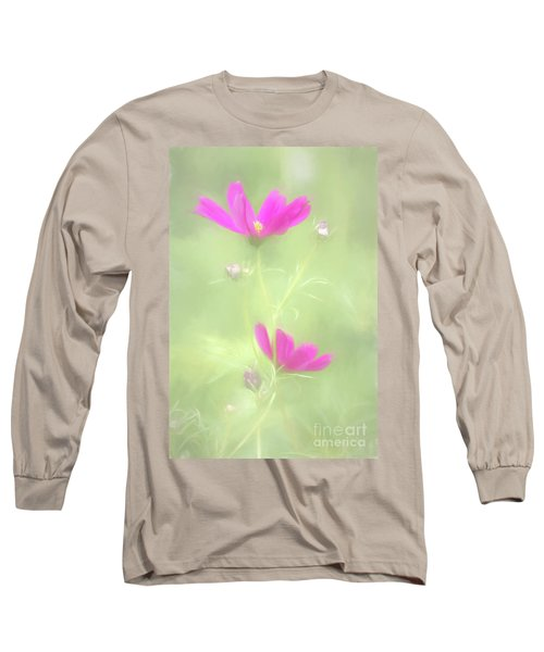 Delicate Painted Cosmos Long Sleeve T-Shirt