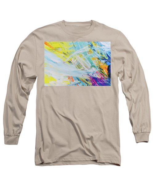 Detail Of Brush Strokes Of Random Colors To Use As Background An Long Sleeve T-Shirt