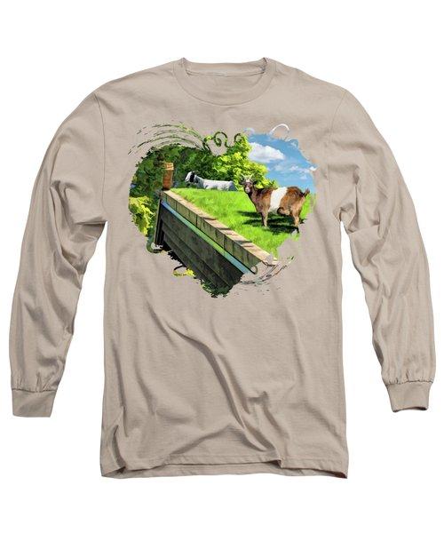 Door County Al Johnsons Swedish Restaurant Goats Long Sleeve T-Shirt