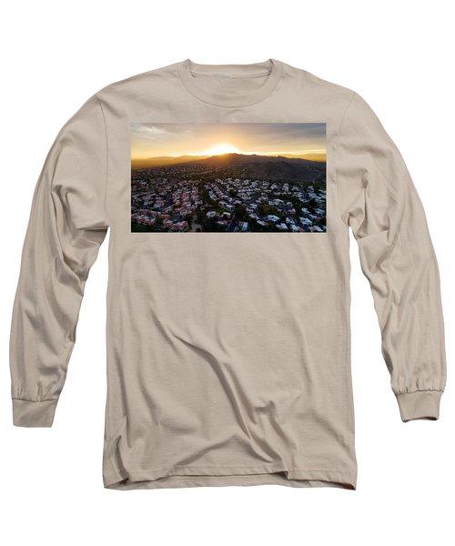 Dramatic South Mountain Sunset Long Sleeve T-Shirt