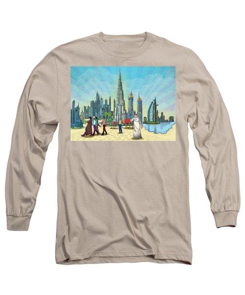 Dubai Illustration  Long Sleeve T-Shirt