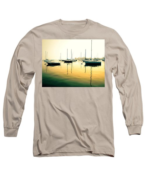 Early Mornings At The Harbour Long Sleeve T-Shirt