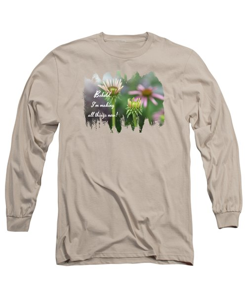 Echinacea Garden - Verse Long Sleeve T-Shirt